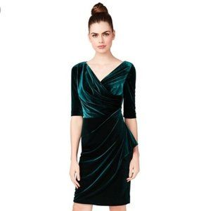Betsey Johnson Faux Wrap Velvet Sheath Dress, 10